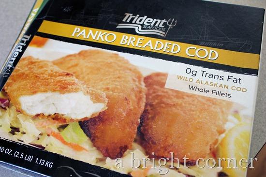 panko breaded cod