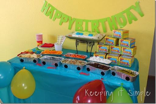 Train Boy Birthday Party Ideas Games Food Favors and Shirt Idea