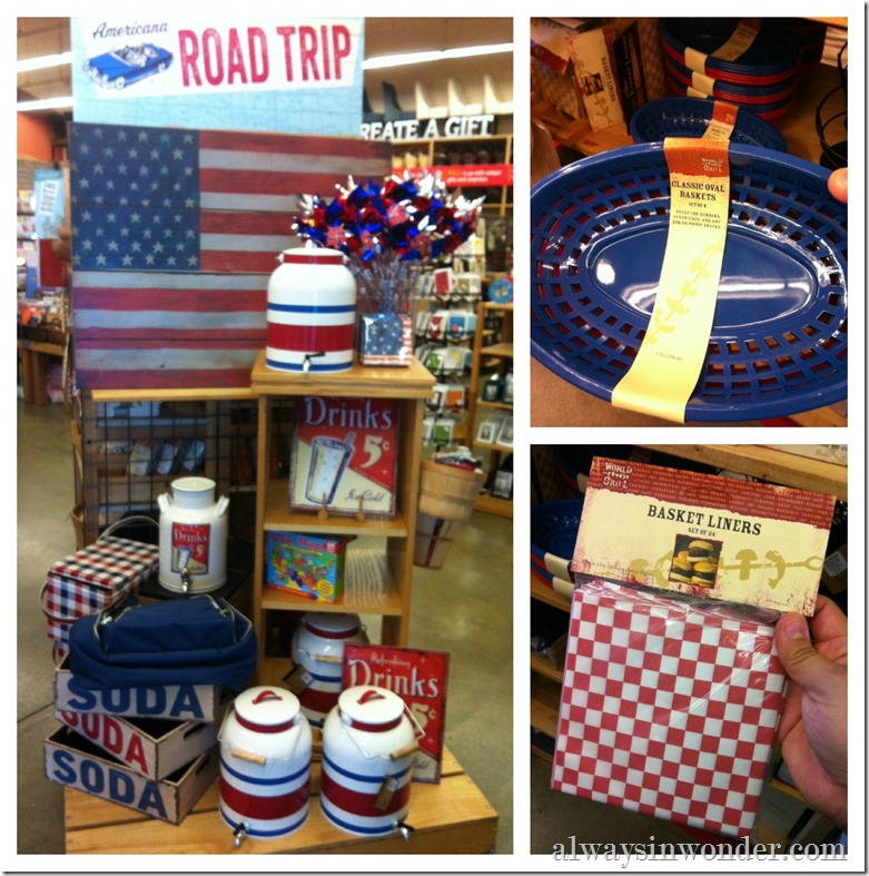 world market Americana party decor