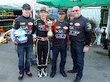 The winning team. Carlo Van Dam, Matt Solomon, Okashi San, Peter Solomon