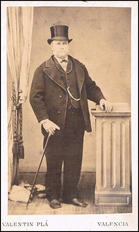 Tarjeta de visita. Foto de Valentín Plá. 1875_hacendado valenciano
