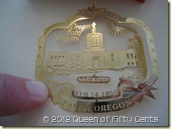 Oregon Capitol Ornament