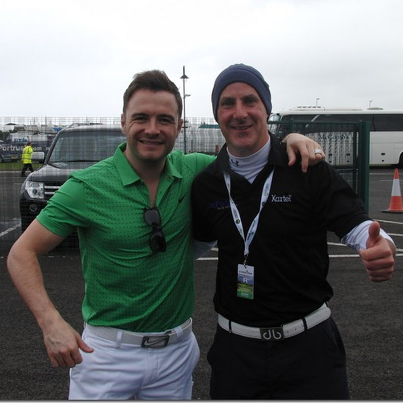 Westlife Singer Arrives At 2012 Irish Open Thinking He's In Florida