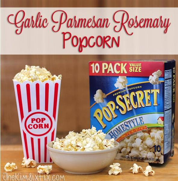 Garlic Parmesan Rosemary Popcorn