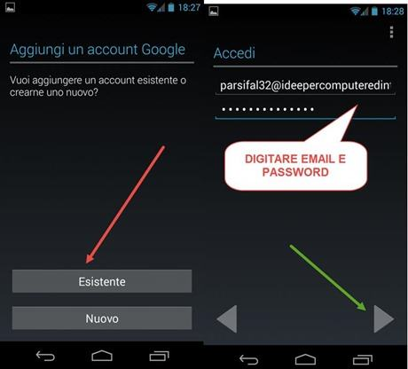 digitare-email-password
