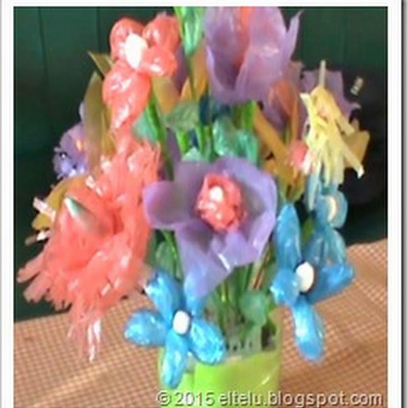 Eltelu Contoh Karya Kerajinan Bunga Hias Yang Terbuat Dari Bahan Limbah Plastik Bekas