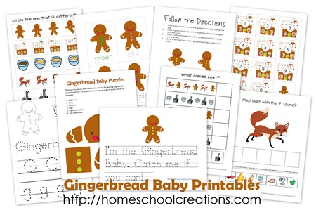 Gingerbread Baby collage