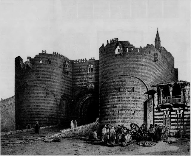 Bab al-Azab, main gate of the Citadel, 18th century. Radwan Katkhuda's 18th-century addition to the Citadel provided a stage for the decisive event orchestrated under the pretense of a feast in 1811. Muhammad Ali Pasha invited all the Mamlukes (elite slave- soldiers) in Egypt to the fortress and had them massacred.