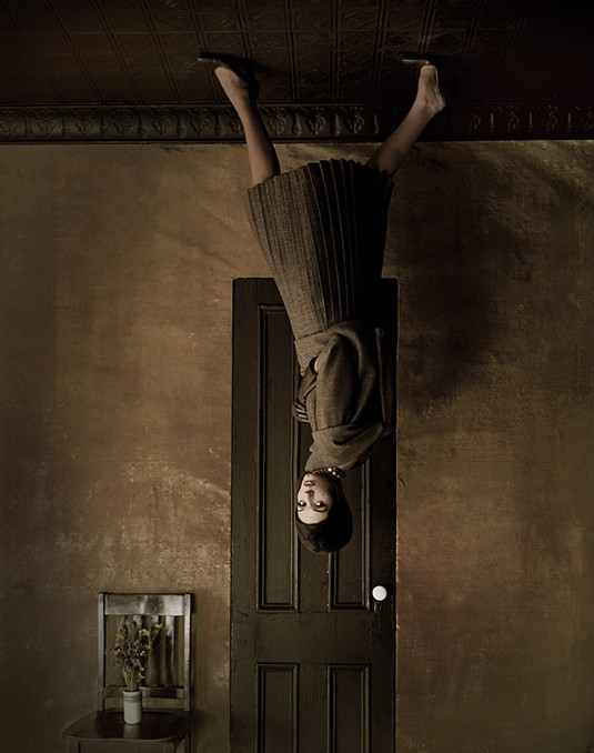 Upside Down Room, Harper's Bazaar, 1960, Photography by Melvin Sokolsky.jpg