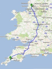St Austell to Wigan