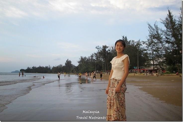 沙巴亞庇丹容亞路海灘夕陽 Perdana Park音樂水舞 (9)