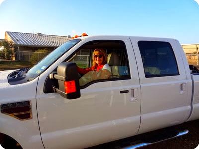 marsha driving truck