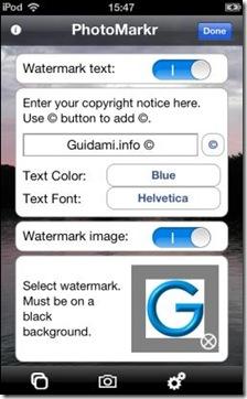 PhotoMarkr mettere firma e logo su foto per copyright