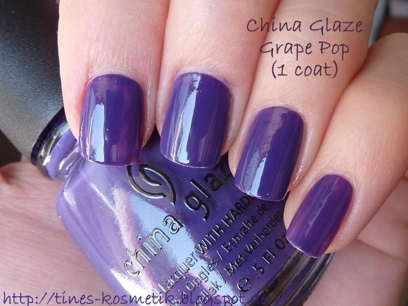 China Glaze Grape Pop 1 Coat
