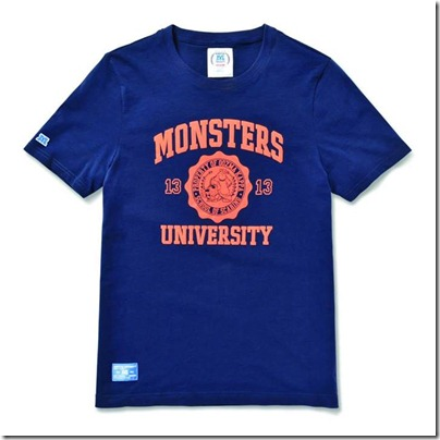 Monster University X Giordano - Blue Tee Shirt Men 03