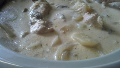 Recipe for Crock Pot Alfredo Chicken and Scalloped Potatoes