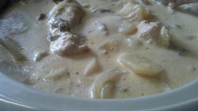 Recipe for Crock Pot Alfredo Chicken and Scalloped Potatoes