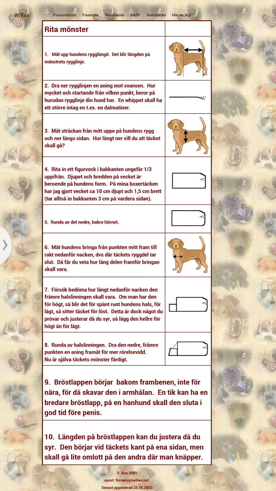Inredning mät runda : Välkommen till min dvärgschnauzersida: Sy egna hundkläder
