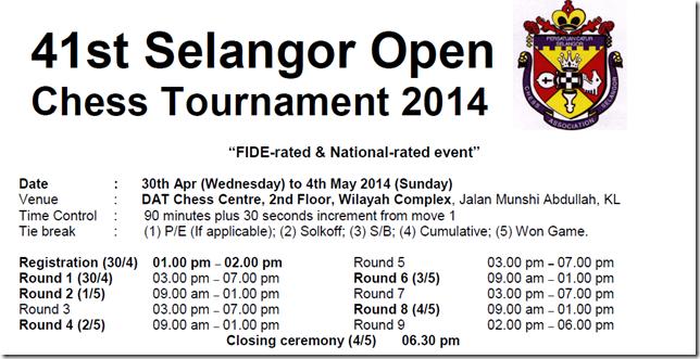 41st Selangor Open 2014 - flyer part 1