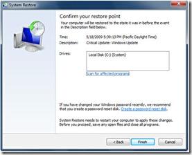 Using System Restore On Windows 7