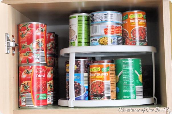 kitchen organization cans shelf
