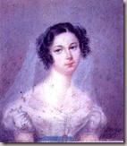 Ewelina Rzewuska Portrait par Holz Sowgen, vers 1825