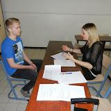 Leerlingen leggen sollicitatiegesprekken af