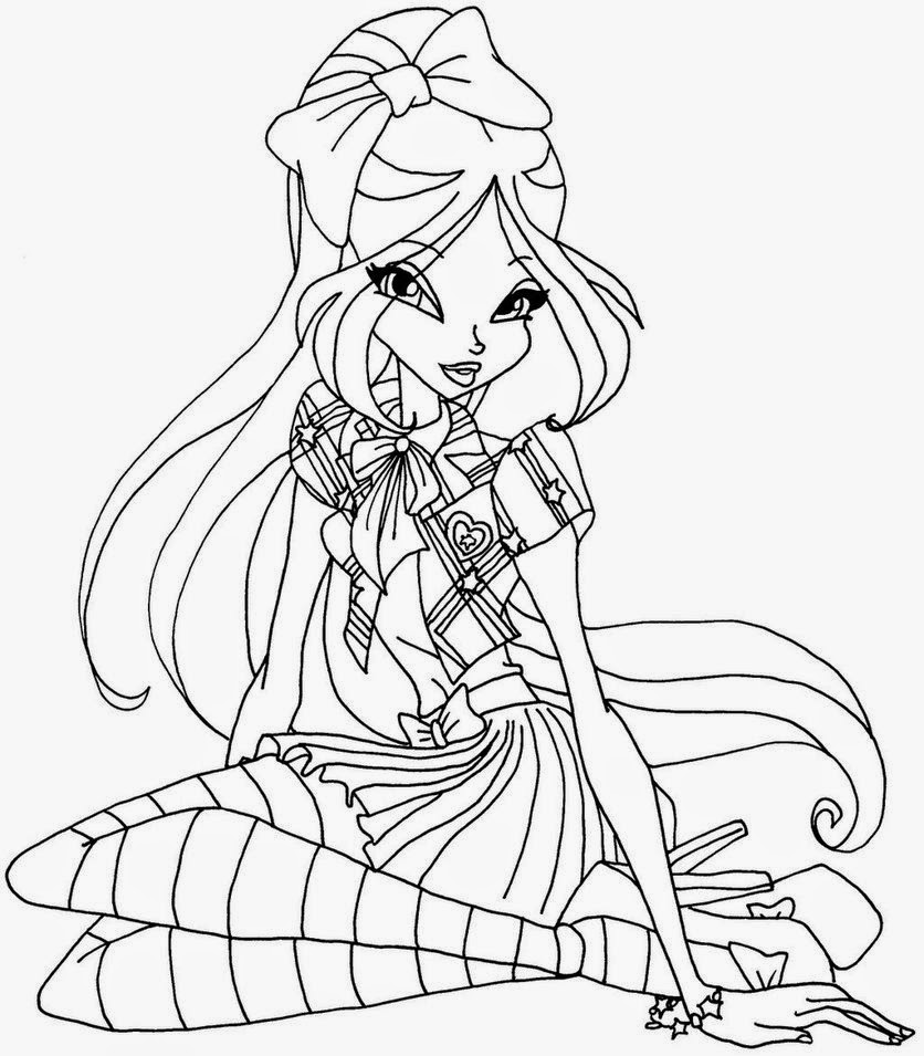 the winx coloring pages - winx club kolorowanki winx sezon 6