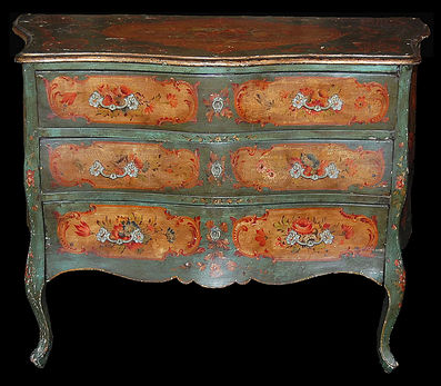 I am coveting any (and all) Venetian painted furniture right now. You can find some beautiful, albeit expensive, pieces from rubylane.com.