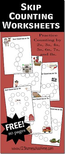 math worksheet : free math worksheets  skip counting paths : Free Homeschool Math Worksheets