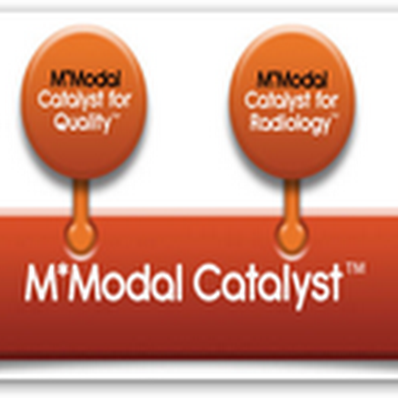 M*Modal Launches New M*Modal Catalyst Suite For Working With Unstructured & Structured Medical Data in the Cloud