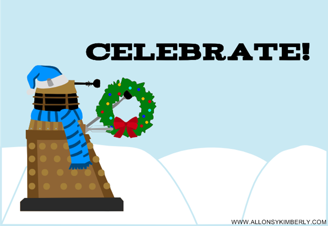 Freebie: Doctor Who Dalek Christmas Card | allonsykimberly.com