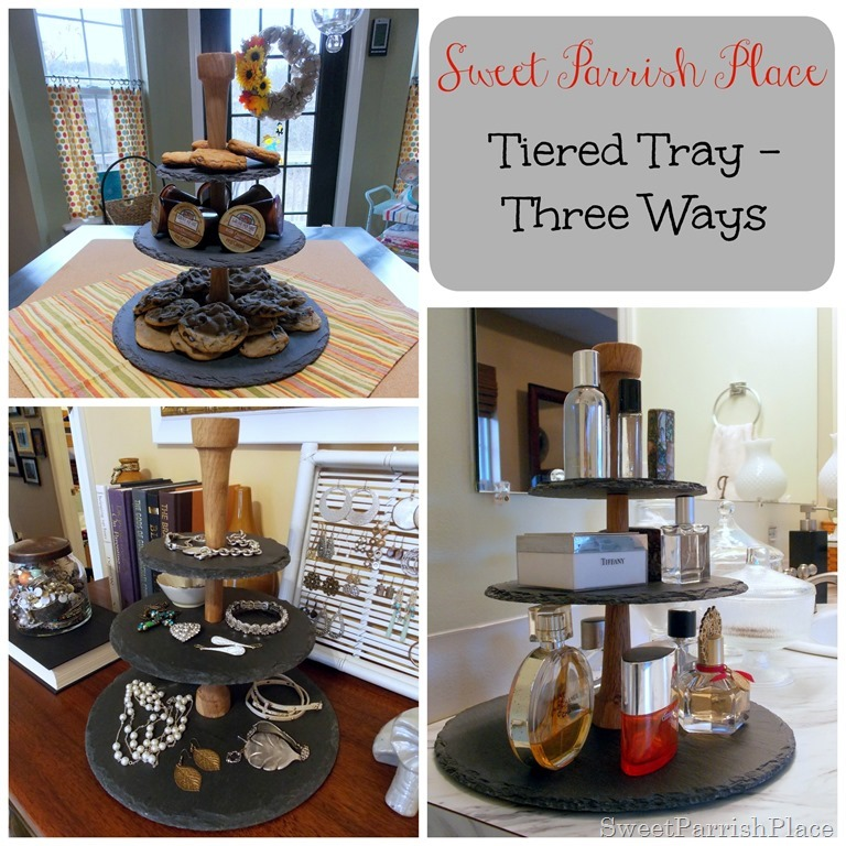 tiered tray collage