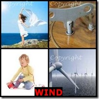 WIND- 4 Pics 1 Word Answers 3 Letters
