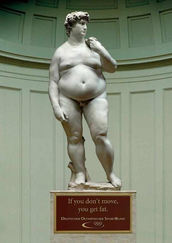 Estátuas gordas - Davi