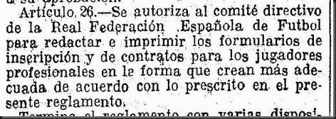 LVG 19260702 Reglamento RFEF Art. 26