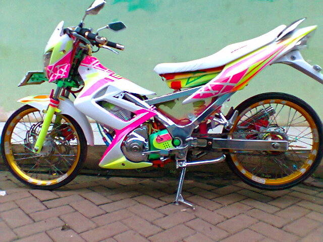 modifikasi airbrush honda beat full chrome racing look