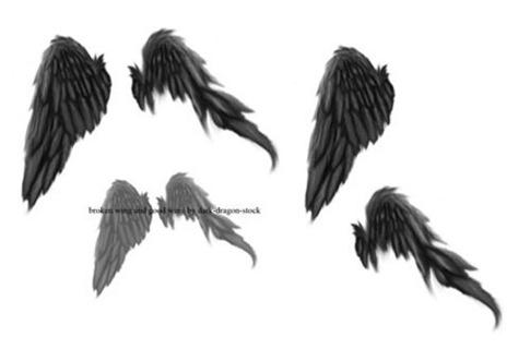 Pinceles de alas de ángel