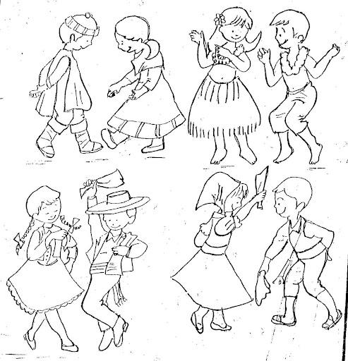 Baile de huaylas para colorear - Imagui