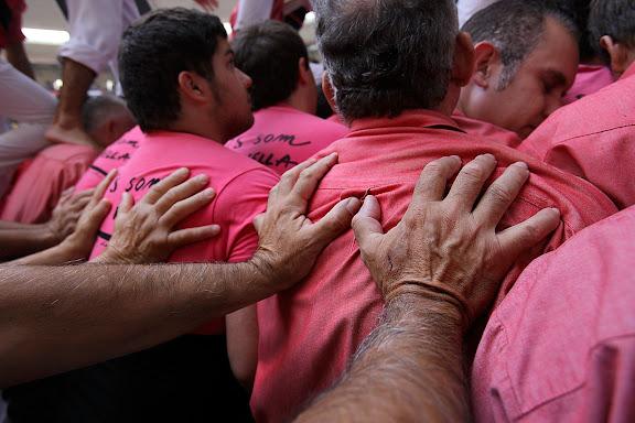 Colla Vella dels Xiquets de Valls, 5 de 9 amb folre. XXIIIè Concurs de Castells a Tarragona. Tarraco Arena Plaça (antiga plaça de braus). Tarragona, Tarragonès, Tarragona