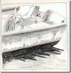 Port Salerno boat stern drawing