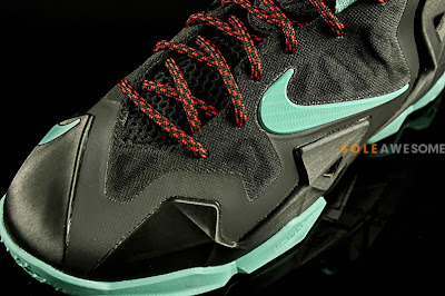 nike lebron 11 gs black green glow 1 04 First Look at Nike LeBron XI GS Black / Mint Green (621712 004)