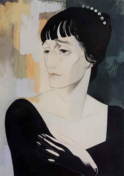 Ю.Анненков. Портрет Анны Ахматовой. 1921. Аукцион Сотбис, 2002