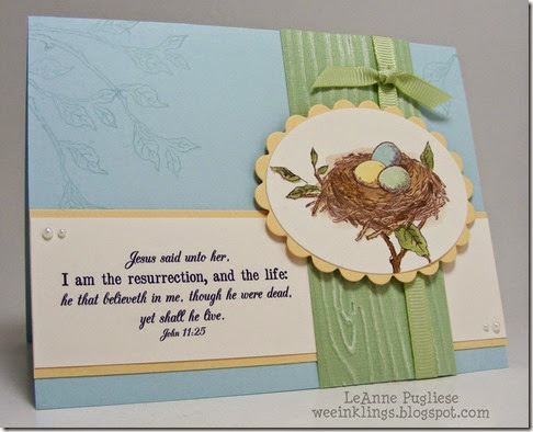 LeAnne Pugliese WeeInklings Easter Card Crafty Secrets Bird Lovers Stampin