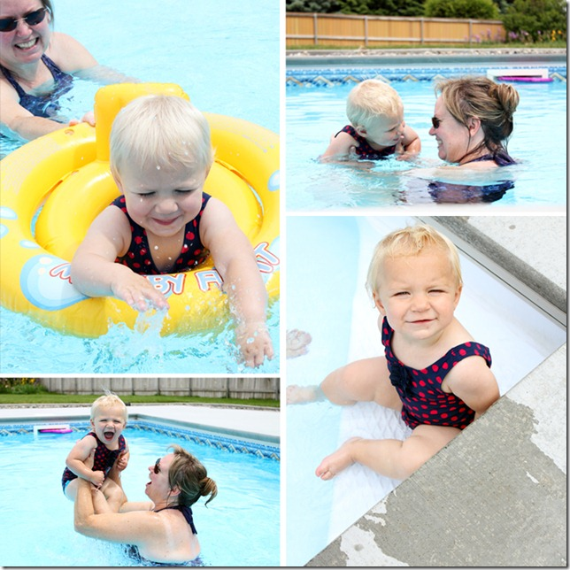 Swimming with Grandma Hill
