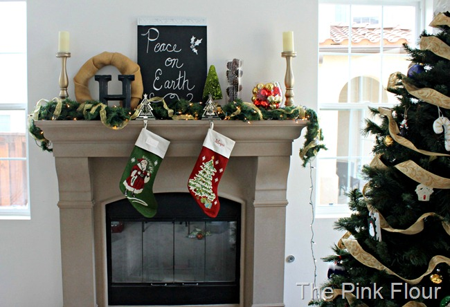 Chalkboard Mantle from The Pink Flour