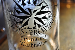 image of 7 Seas pint glass courtesy of our Flickr page