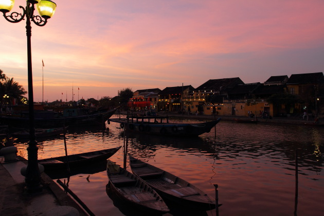 Sunset at the Hoi An Riverside
