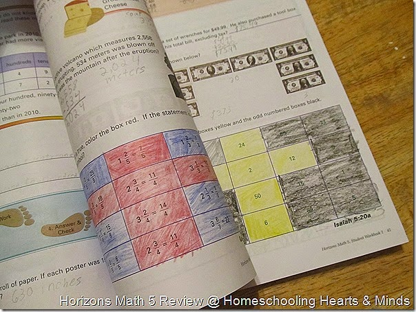 Horizons Math 5 Review @ Homeschooling Hearts & Minds
