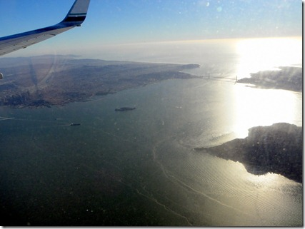 Alcatraz, the Golden Gate Bridge... this flight was fun!